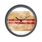 District of Columbia Flag Wall Clock