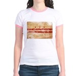 District of Columbia Flag Jr. Ringer T-Shirt