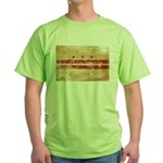 District of Columbia Flag Green T-Shirt