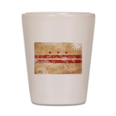 District of Columbia Flag Shot Glass