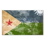 Djibouti Flag Sticker (Rectangle 50 pk)