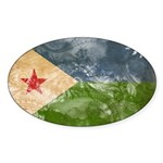 Djibouti Flag Sticker (Oval 50 pk)