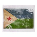 Djibouti Flag Throw Blanket