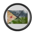 Djibouti Flag Large Wall Clock