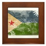 Djibouti Flag Framed Tile