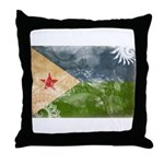 Djibouti Flag Throw Pillow