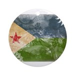 Djibouti Flag Ornament (Round)