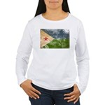 Djibouti Flag Women's Long Sleeve T-Shirt