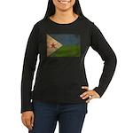 Djibouti Flag Women's Long Sleeve Dark T-Shirt