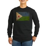Djibouti Flag Long Sleeve Dark T-Shirt