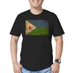 Djibouti Flag Men's Fitted T-Shirt (dark)