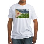 Djibouti Flag Fitted T-Shirt