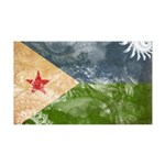 Djibouti Flag 38.5 x 24.5 Wall Peel