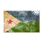 Djibouti Flag 22x14 Wall Peel