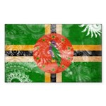 Dominica Flag Sticker (Rectangle 10 pk)