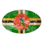 Dominica Flag Sticker (Oval 10 pk)
