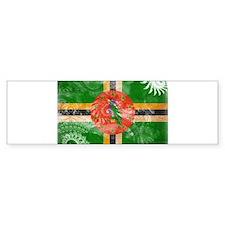 Dominica Flag Bumper Sticker