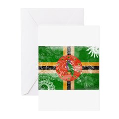 Dominica Flag Greeting Cards (Pk of 20)