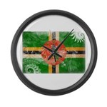 Dominica Flag Large Wall Clock