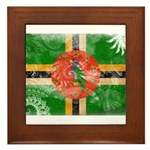 Dominica Flag Framed Tile