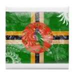 Dominica Flag Tile Coaster