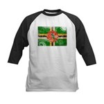 Dominica Flag Kids Baseball Jersey