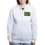 Dominica Flag Women's Zip Hoodie