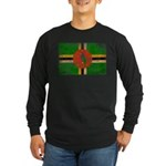 Dominica Flag Long Sleeve Dark T-Shirt