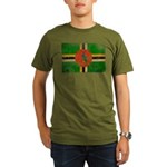 Dominica Flag Organic Men's T-Shirt (dark)