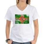 Dominica Flag Women's V-Neck T-Shirt