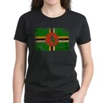 Dominica Flag Women's Dark T-Shirt