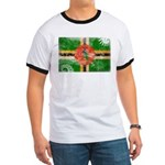 Dominica Flag Ringer T