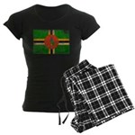 Dominica Flag Women's Dark Pajamas