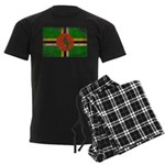 Dominica Flag Men's Dark Pajamas