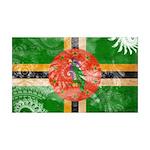 Dominica Flag 38.5 x 24.5 Wall Peel
