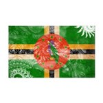 Dominica Flag 38.5 x 24.5 Wall Peel