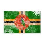 Dominica Flag 22x14 Wall Peel