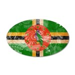 Dominica Flag 38.5 x 24.5 Oval Wall Peel