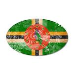 Dominica Flag 22x14 Oval Wall Peel