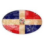 Dominican Republic Flag Sticker (Oval 50 pk)