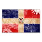 Dominican Republic Flag Sticker (Rectangle)
