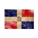 Dominican Republic Flag Rectangle Magnet (100 pack