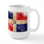 Dominican Republic Flag Large Mug
