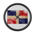 Dominican Republic Flag Large Wall Clock
