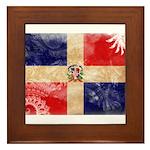 Dominican Republic Flag Framed Tile