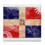 Dominican Republic Flag Tile Coaster