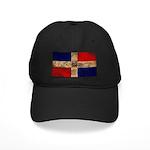 Dominican Republic Flag Black Cap