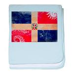Dominican Republic Flag baby blanket