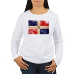 Dominican Republic Flag Women's Long Sleeve T-Shir
