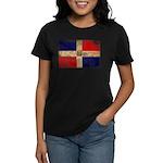 Dominican Republic Flag Women's Dark T-Shirt